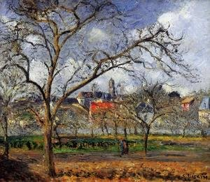 Camille Pissarro - On Orchard in Pontoise in Winter  1877