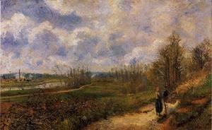 Camille Pissarro - Pathway at Chou Pontoise  1878