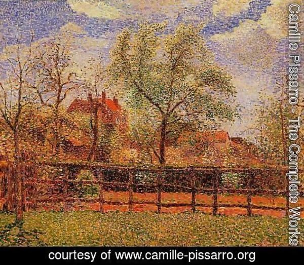 Camille Pissarro - Pear Tress in Bloom Eragny Morning 1886