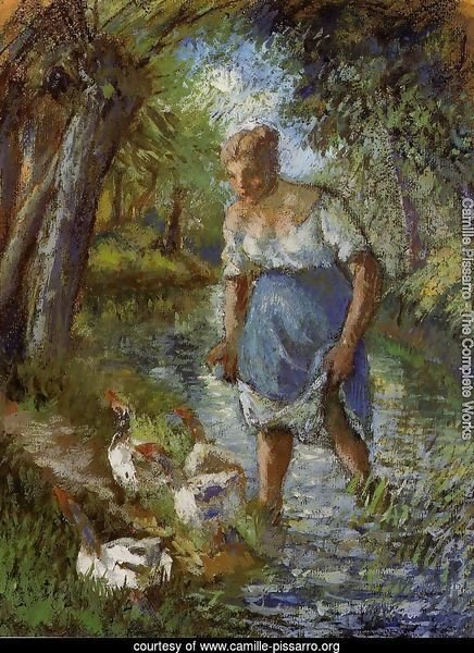Peasant Crossing a Stream 1894