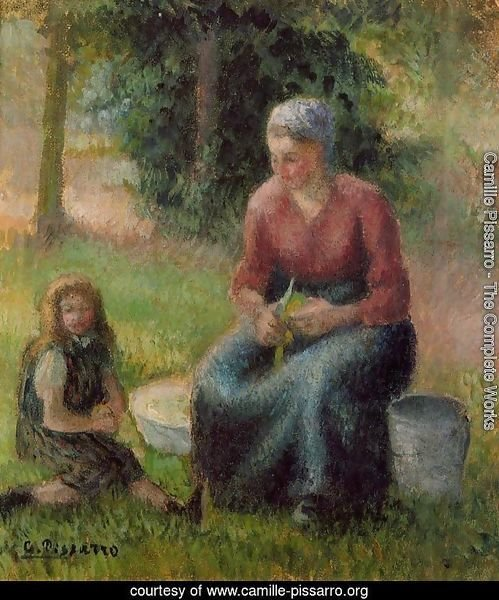 Peasant Woman and Her Daughter Eragny  1903