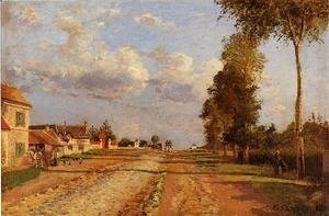 Camille Pissarro - Road to Saint-Germain Louveciennes  1871