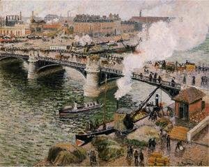 The Boieldiu Bridge rouen Damp Weather  1896