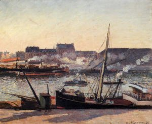 Camille Pissarro - The Docks rouen Afternoon  1898