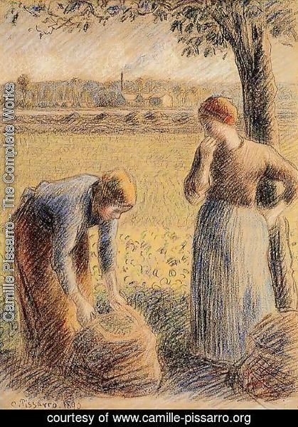 Camille Pissarro - The Harvest  1890