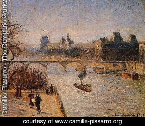 Camille Pissarro - The Louvre2  1901