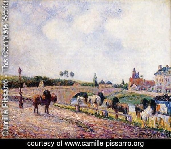 Camille Pissarro - The Pontoise Bridge  1891