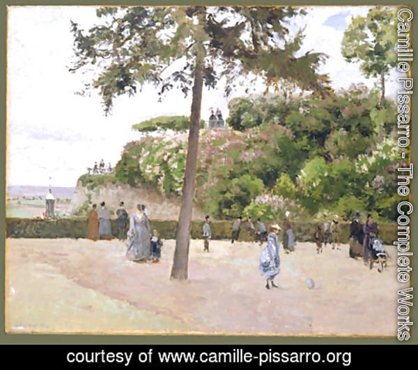 Camille Pissarro - The Public Garden at Pontoise 1874