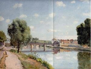 Camille Pissarro - The Railroad Bridge at Pontoise  1873