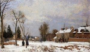 Camille Pissarro - The Rising Path Pontoise  1875