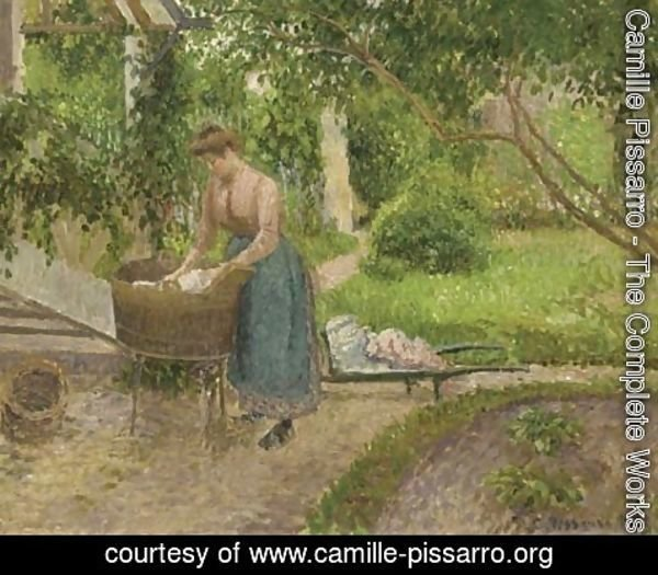 Camille Pissarro - Laveuse AAA'A  Eragny