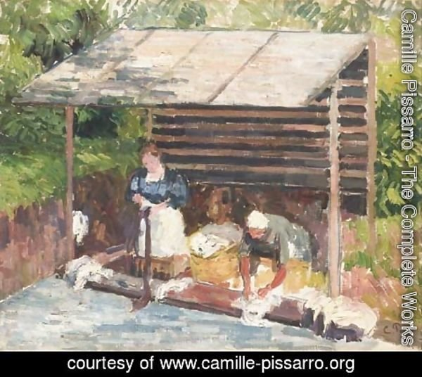 Camille Pissarro - Leveuses AAA'A  Eragny