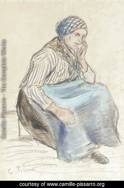 Camille Pissarro - Paysanne assise