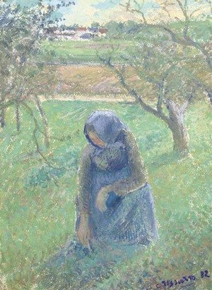 Camille Pissarro - Ramasseuse d'herbe