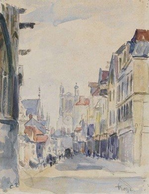 Camille Pissarro - Vue d'une rue AAA'A  Troyes