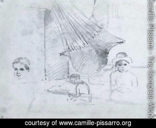 Camille Pissarro The Complete Works Un Hamac Avec Etudes D