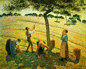 Camille Pissarro - Apple harvest in Eragny