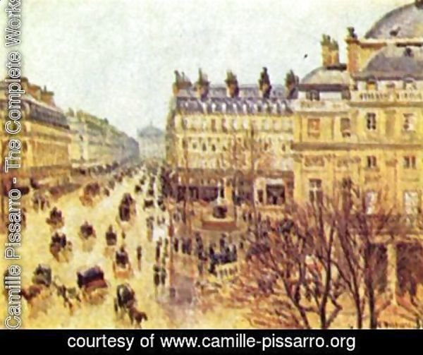 Camille Pissarro - Avenue de l'Opera, Paris in the rain
