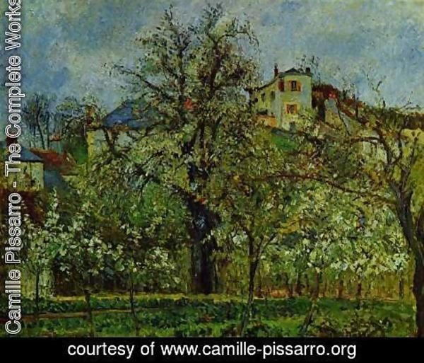Camille Pissarro - Orchard with flowering trees