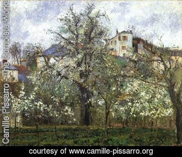 Camille Pissarro - Spring at Pontoise, Vegetable Garden and Trees in Blossom