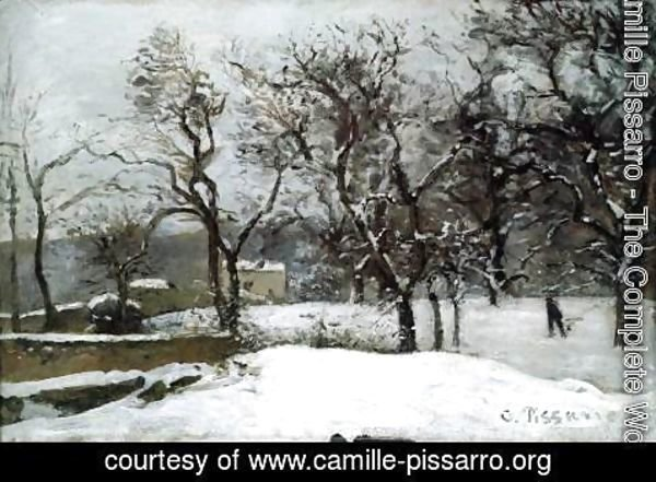 Camille Pissarro - Snow at Louveciennes