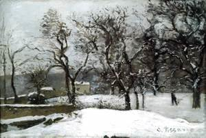 Snow at Louveciennes
