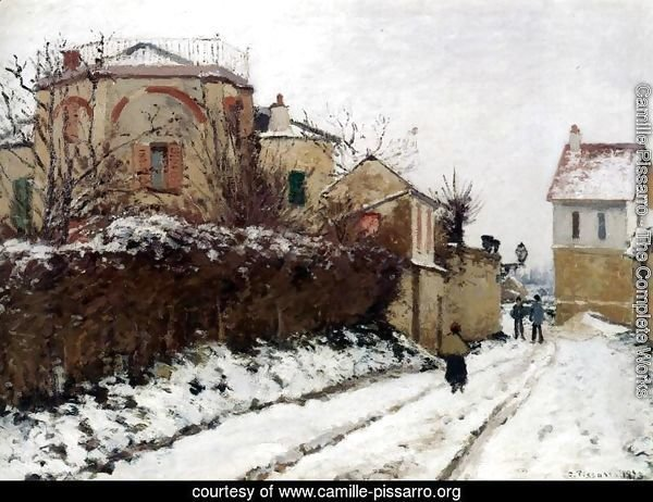Street in Pontoise, Winter