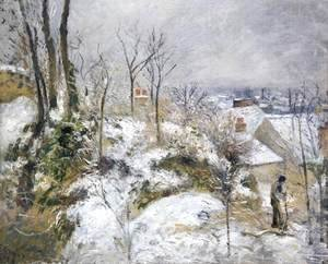 Camille Pissarro - Rabbit Warren at Pontoise, Snow