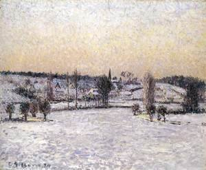 Snowy Landscape, Eragny, Evening
