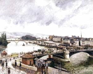 Camille Pissarro - Le Grand Pont, Rouen, Effect of Rain