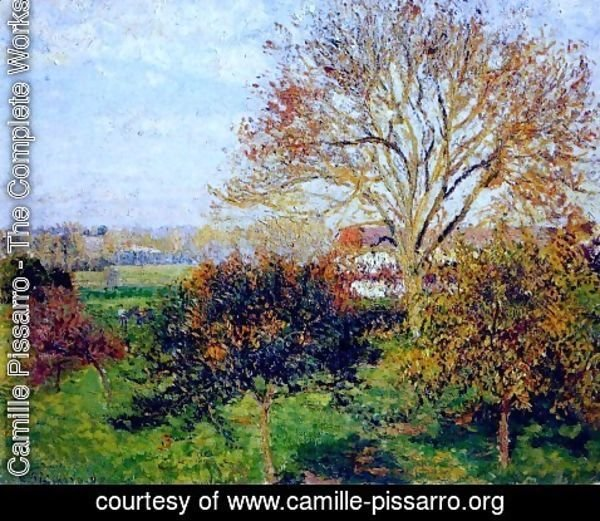 Camille Pissarro - Autumn morning at Eragny
