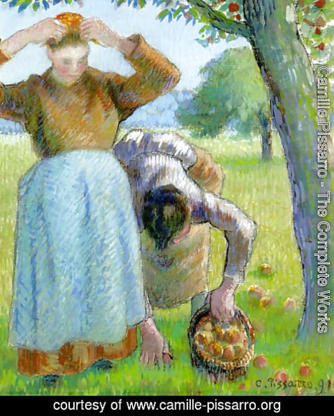 Camille Pissarro - Apple Gatherers