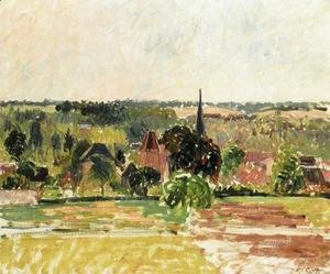 Camille Pissarro - View of Eragny 4