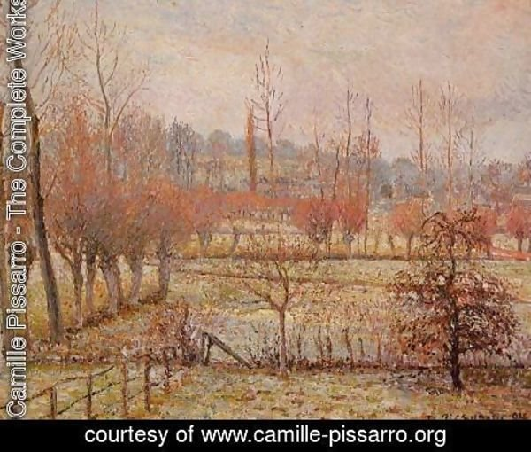Camille Pissarro - Snow Effect at Eragny