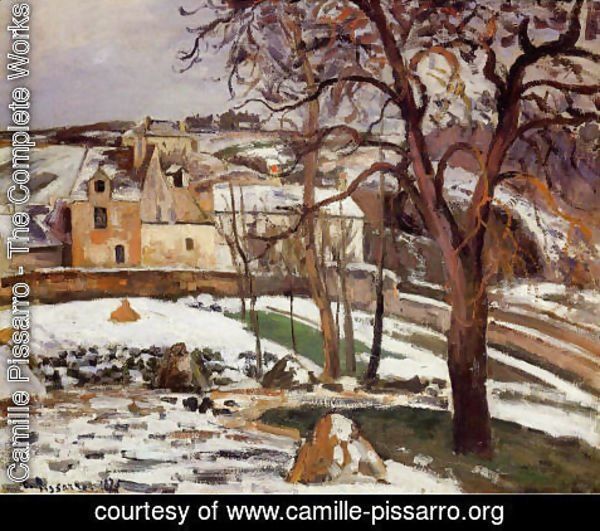 Camille Pissarro - The Effect of Snow at l'Hermitage, Pontoise 2