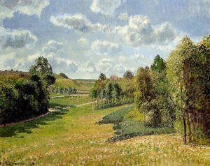 Camille Pissarro - Berneval Meadows, Morning 2