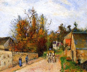 Camille Pissarro - The diligence
