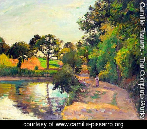 Camille Pissarro - Bridge at Montfoucault 2