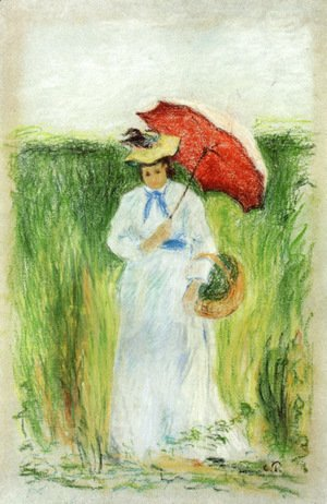 Camille Pissarro - Young Woman with an Umbrella