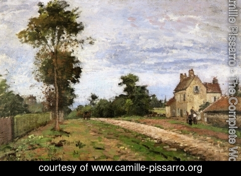 Camille Pissarro - The House of Monsieur Musy, Louveciennes