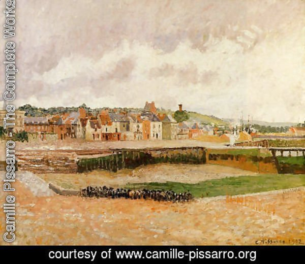 Camille Pissarro - Afternoon, the Dunquesne Basin, Dieppe, Low Tide 2