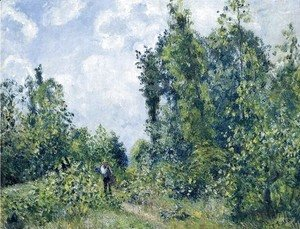 Camille Pissarro - Wanderer near the Wood