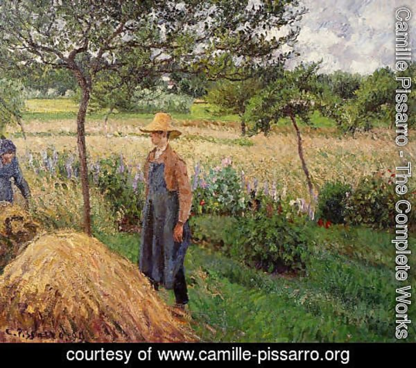 Camille Pissarro - Grey Weather, Morning with Figures, Eragny 2
