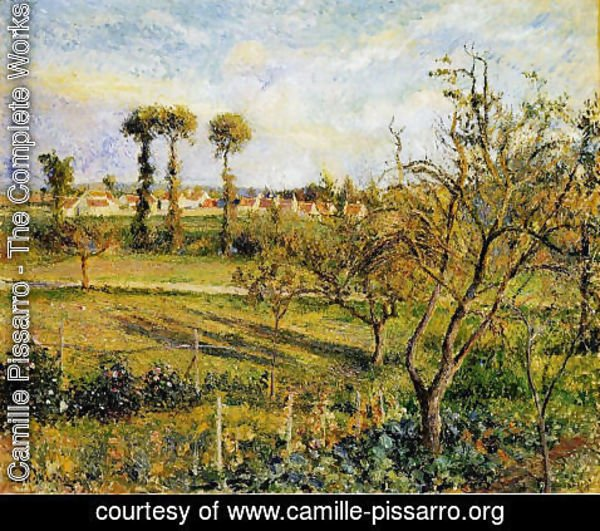 Camille Pissarro - Sunset at Valhermeil, near Pontoise 2