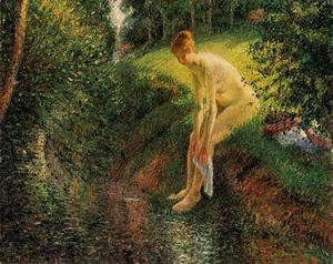 Camille Pissarro - Bather In The Woods