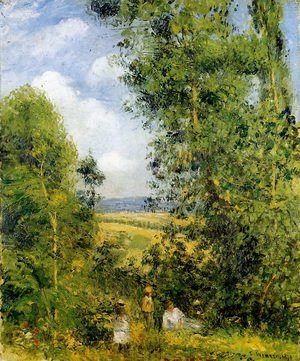 Camille Pissarro - Resting in the Woods at Pontoise 1878