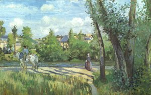 Camille Pissarro - Sunlight on the Road- Pontoise 1874