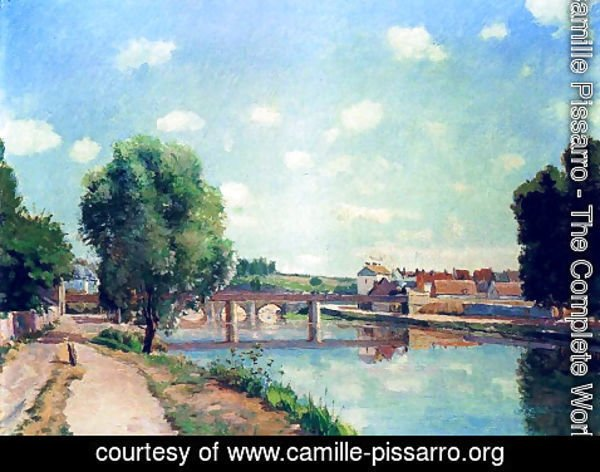 Camille Pissarro - The Railway Bridge at Pontoise 1873