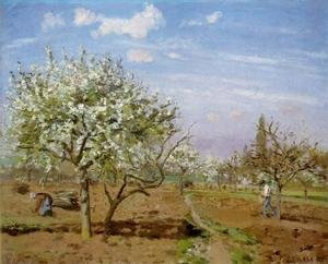 Camille Pissarro - Orchard In Bloom At Louveciennes