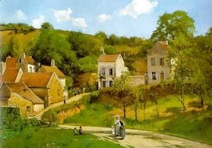 Camille Pissarro - The Hermitage at Pontoise 1867